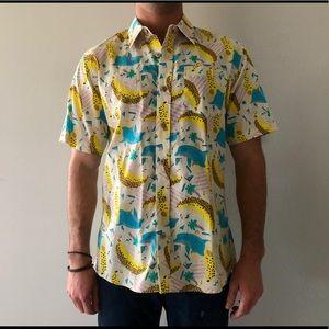 f805bd3cddc Tipsy Elves Shirts - Fun Hawaiian Shirt with Dolphins and Bananas